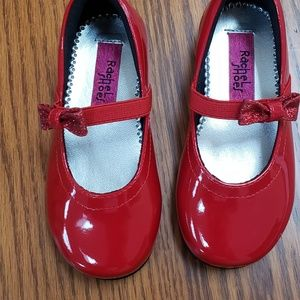 Rachel Shoes Red Patent Leather Size 7M New in Box